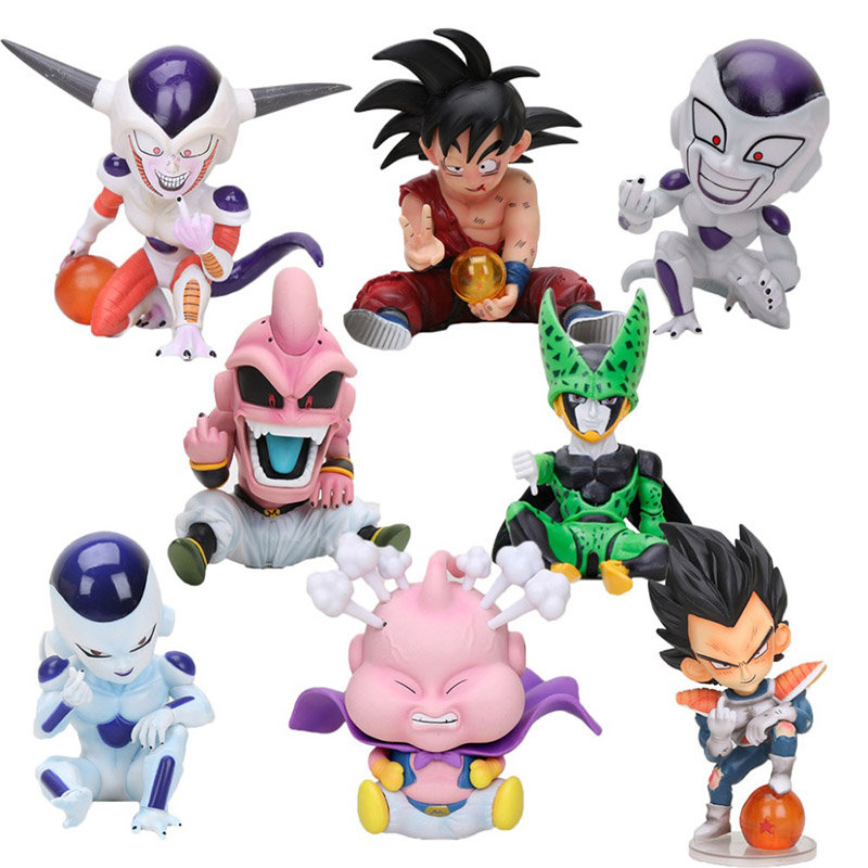 11cm Anime Dragon Ball Fighter Z Majin Buu Cell PVC Action Figure Toys Model Kid Buu Freeza Frieza Fina From