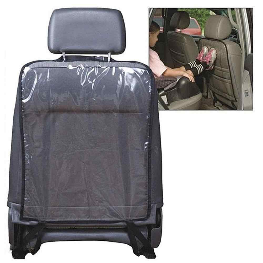 Genel araba klozet kapağı arka koruyucu Anti kirli çocuk çocuklar Kick Mat halı Fit çoğu araba, kamyon, SUV araba iç aksesuarları