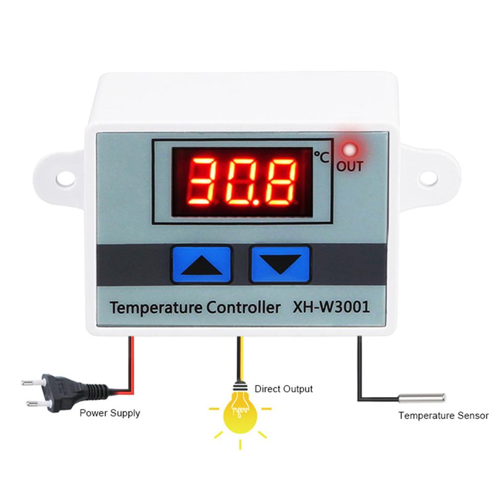Digital LED Temperature Controller 12V 24V 220VAC XH-W3001 For Incubator Cooling Heating Switch Thermostat NTC Sensor #25