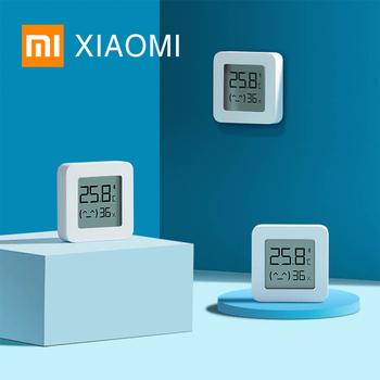XIAOMI MIJIA termohigrometr 2 Bluetooth higrometr inteligentny czujnik wilgotności cyfrowy wyświetlacz LCD elektroniczny termometr pokojowy APP tanie i dobre opinie LYWSD03MMC Termometry do kąpieli Gospodarstw domowych termometry Z tworzywa sztucznego Temperatura Wilgotność Metrów