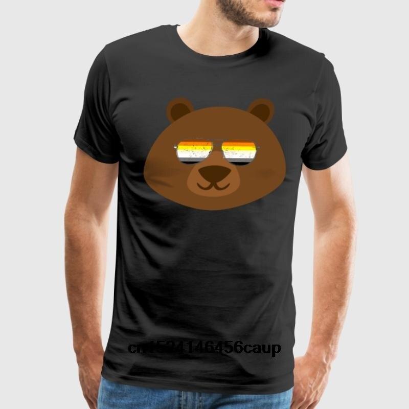 100% Cotton O-neck Custom Printed Men T shirt Gay Bear Sunglasses Gay Pride Women T-Shirt