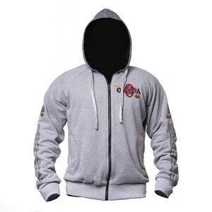 Image 4 - 2019 новые Олимпия мужские спортивные куртки с капюшоном тренажерные залы Фитнес футболка для бодибилдинга спортивные пуловеры мужские тренировки с капюшоном куртка одежда