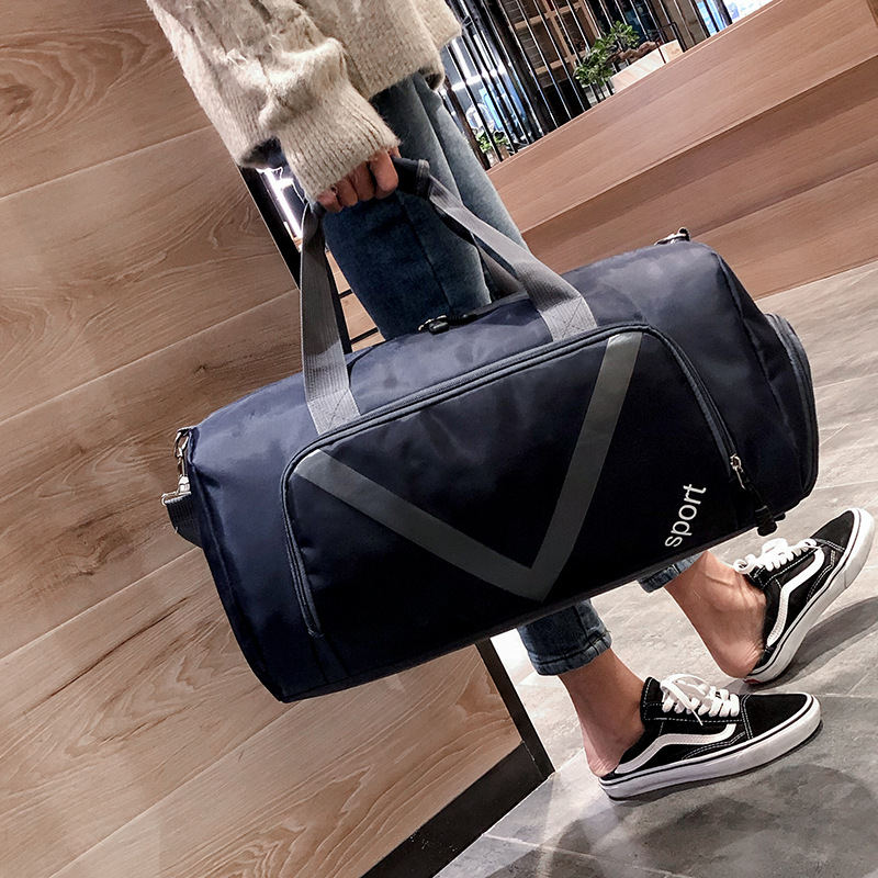 New Sports Fitness Bags, Men's And Women's Travel Bags, Hand-held Large-capacity Luggage Bags, Shoe Sports Bags, Printing