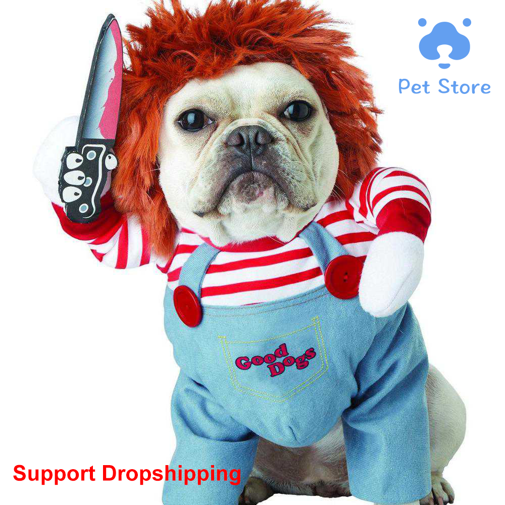Funny Cat Dog Clothes Dogs costume Holding a Knife Halloween Christmas Costume Novelty Cosplay clothes for dogs Dog Coats & Jackets    - AliExpress