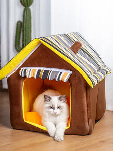 Cat Bed Kennel Sofas Pet-House Stripes-Cover-Products Dogs-Mat Small Outdoor Medium