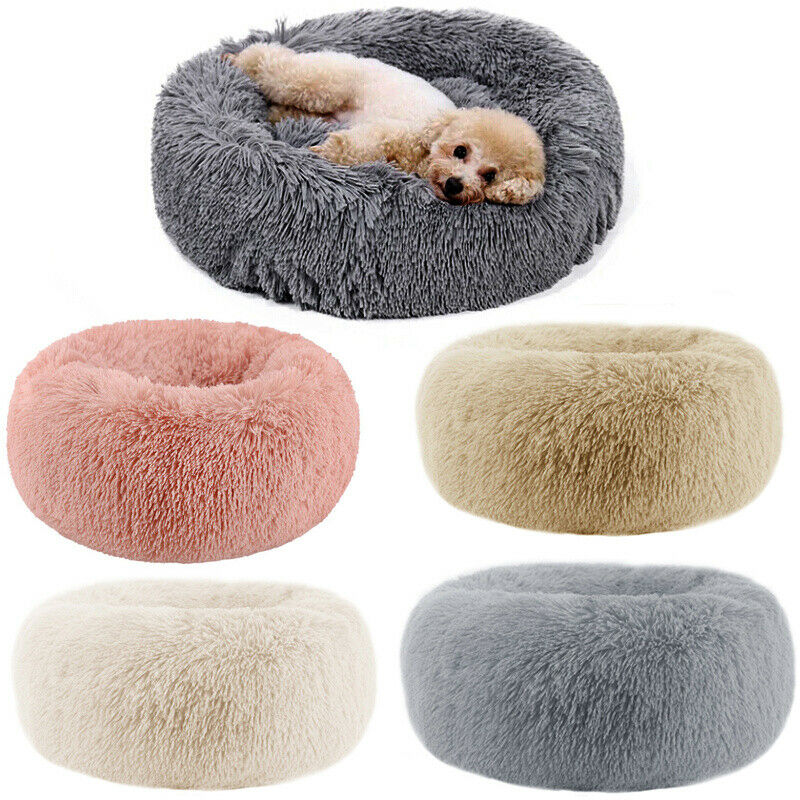 Donut Cat Bed Warm Fleece Dog Bed Pet Mat Lounger Cushion For Small Medium Large Dogs Cat Indoor Cuddler Puppy Mat Pet Bed image