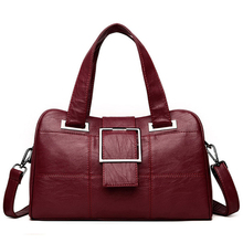 Boston Hand Bag Women Tote Leather Sheepskin Bags