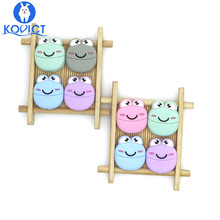 Kovict 5pcs Frog Silicone Beads Baby Silicone Teethers Food Grade Pacifier penda