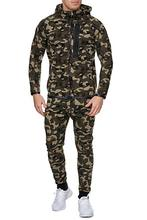 Mens Tracksuit 2020 New Fashion Trend 3D Printed Hooded Camouflage Zipper Pocket Hip Hop Sport Casual Men's Suit