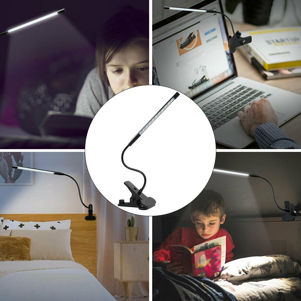 Легкий металлический Настольный домашний декор usb зарядка вращающаяся регулируемая кровать гибкий зажим для чтения Светодиодная настольная лампа для изучения