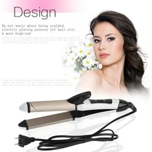 Ceramic Electric Hair Brush Hair Straightener Straightening Flat Iron Comb Wet Dry 2 In 1 Digital Control Heating Brushes