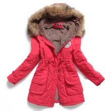 New Winter Women Jacket Medium-long Thicken Plus Size 4XL Outwear Hooded Wadded Jacket Slim Parka Cotton-padded Jacket Overcoat цены онлайн