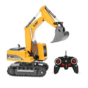 2.4G Eight-Way Alloy Excavator Wireless Remote Control Truck Excavator Creative Portable Environmental RC Truck Model Toys Gift