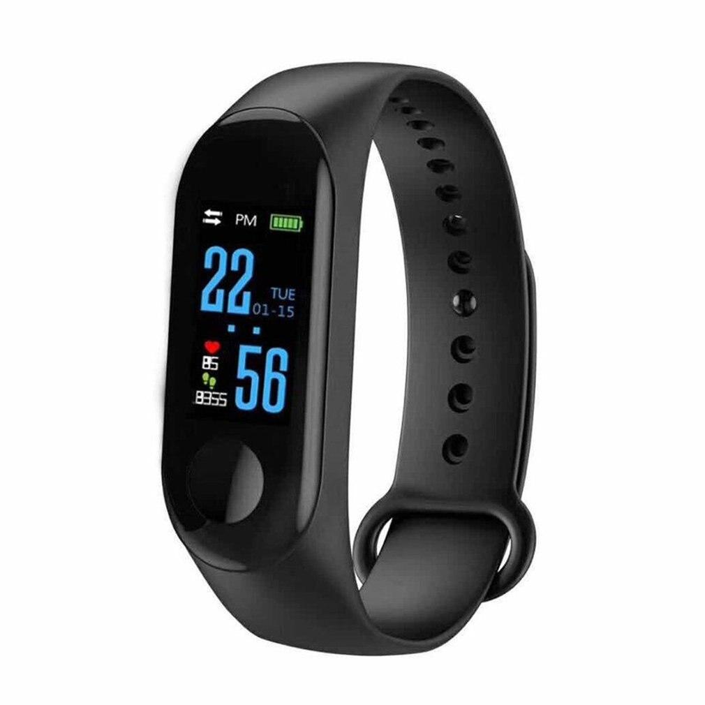 M3 Smart Band Fitness Tracker Blood Oxygen Monitor Waterproof Wristband Remote Camera Pedometer 0.96 Sport Bracelet