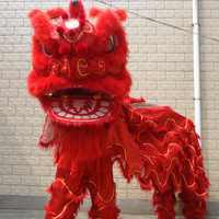 Celebrate the Festivals Lion Dance Outfit Chinese Lion Dance Costume Wool Hand Made Stage Accessories For Oversea Chinese