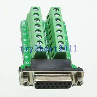 DHL/EMS 20 juegos adaptador DB15 15pin jack pin D SUB VGA señales Terminal Placa de apertura 2 filas C1 Accesorios para baterías Productos electrónicos -