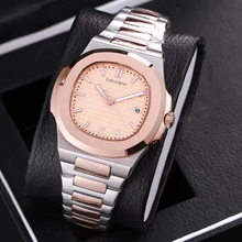 Rose gold and silver Mens watch automatic movement stainless steel bracelet sapphire glass luminous watches AAA