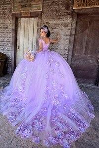 Потрясающий светильник, фиолетовые платья Quinceanera, кружевные платья, 16 платьев, вечерние платья, vestidos de 15 años 2020