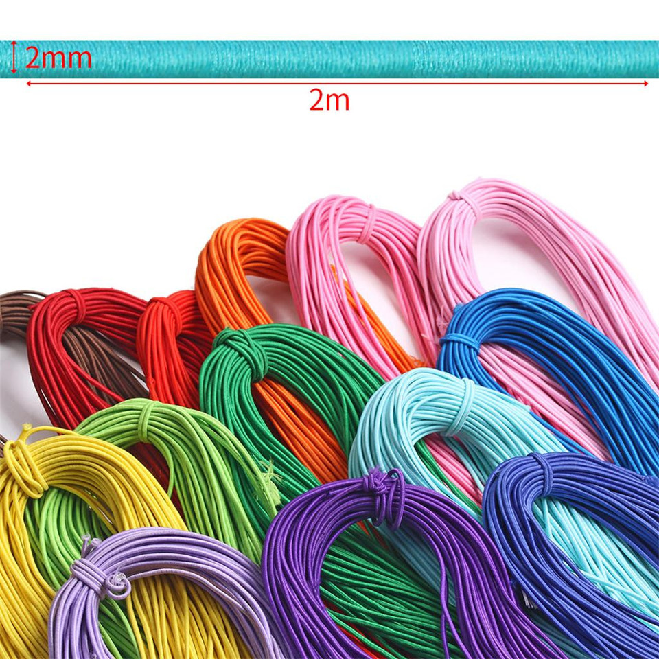 Drop Ship Colorful Elastic Cord Elastic For Face Mask Band Crafts