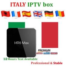 Italy IPTV Box h96max x2 Android8.1 Android box 2000+ live iptv subscription for UK Germany Italian Albania adult Smart TV Box gotit pakistan iptv s905 amlogic s905x 4k smart android tv box 4500 live germany albania indian usa south america smart tv box