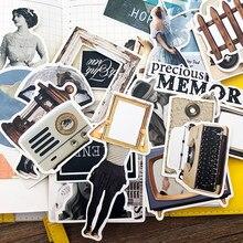 34 unids/bolsa scrapbooking retro pegatinas fresco revista serie personajes personalizado álbum en inglés diario pegatinas decorativas