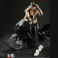 1/6 Scale Fashion Locomotive Girl PU Leather Suit for Phicen Tbleague Jiaoudoll Collectible 12 inches Action Figures Body DIY
