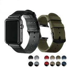 цена на HeLeaf Lightweight Breathable waterproof Nylon strap for apple watch band 42 38mm for iWatch serise 3 2 1 watchband Sport Loop