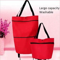 Складная сумка-тоут на колесиках для покупок многофункциональные складные сумки-корзины для хранения