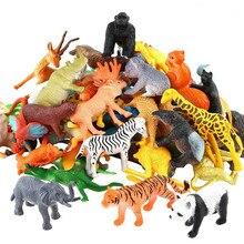 53 шт./компл. мини животный мир зоопарк модель фигурку игрушка набор мультфильм моделирование животных прекрасный пластмассы Коллекция игрушек для детей
