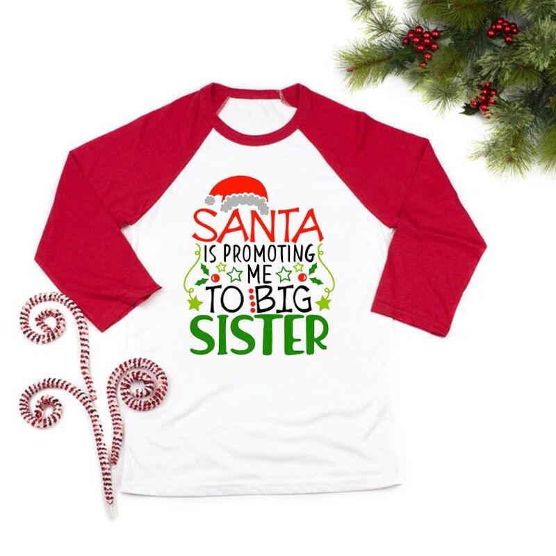 Рождество объявление беременности рубашка повышен до «Big Sister» («старшая сестра»); Рубашки объявление беременности Футболка только для того,...