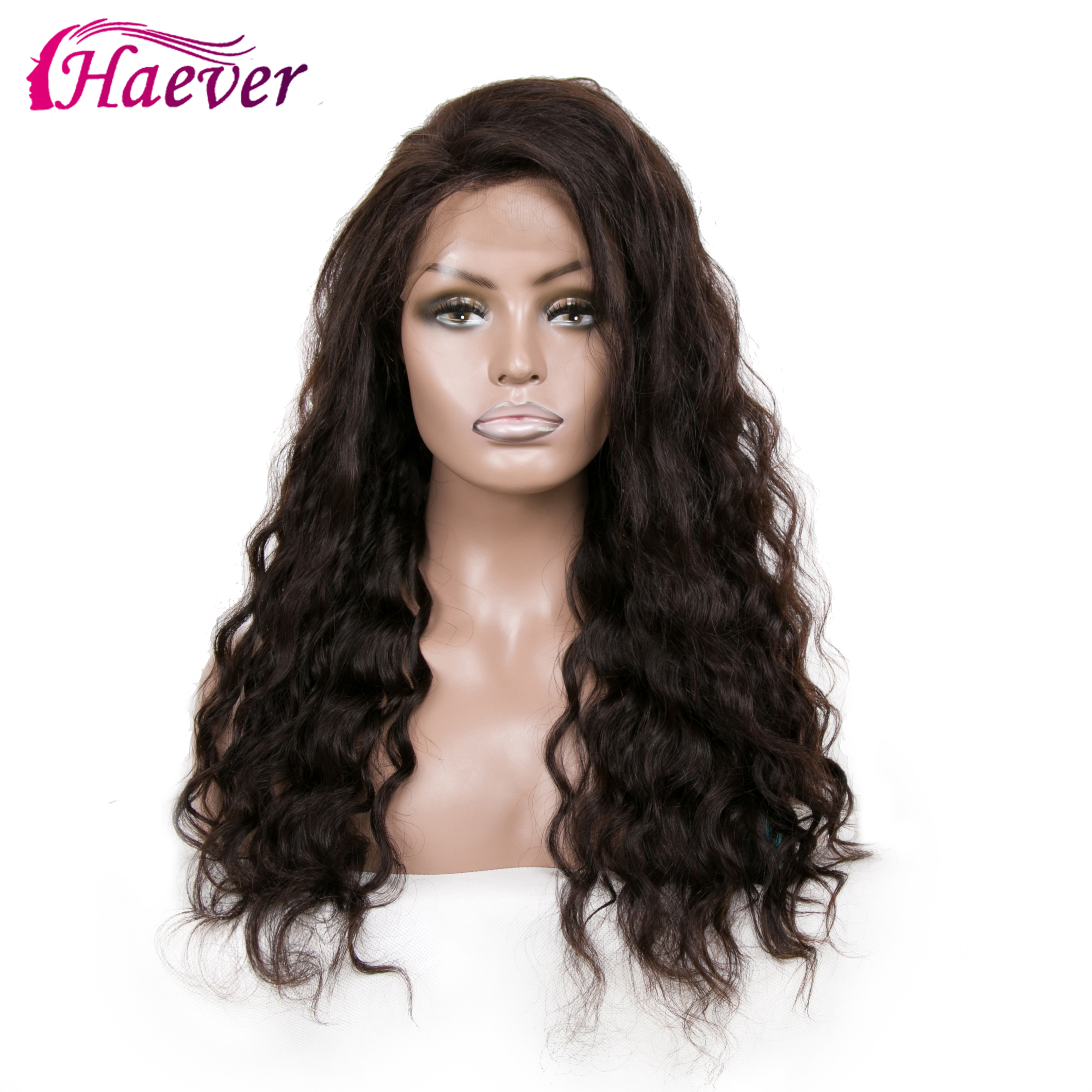 Haever 13x4 Water Wave Human Hair Lace Front Wigs New Hair Wigs 180 With Baby Hair Peruvian Wig Pre Plucked 150% Remy Hair Wig