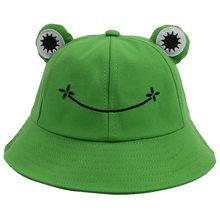 Verde sapo balde chapéu para as mulheres verão outono simples panamá ao ar livre caminhadas praia pesca boné protetor solar feminino sunhat bob