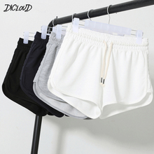 DICLOUD Summer Casual Shorts Woman 2019 Plus Size High Waist Booty Shorts Female Black White Loose Beach Sexy Short S XXL