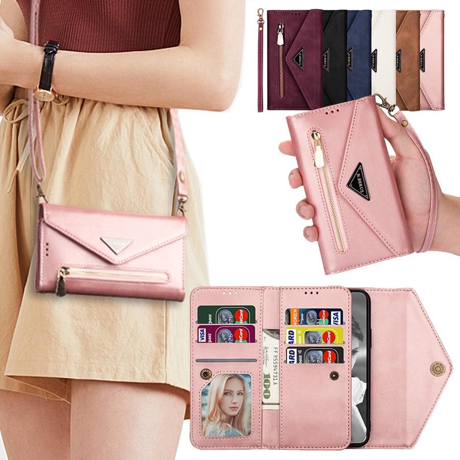 Сумочка кошелек кожаный чехол для карт для IPhone 11 Pro XS MAX X XR 8 7 6s 6 Plus SE 2 2020 роскошный флип-чехол для телефона женские сумки для девочек