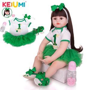 KEIUMI дропшиппинг куклы Reborn Младенцы силиконовая ткань реалистичные 60 см милые куклы для новорожденных для малышей подарок на день рождения