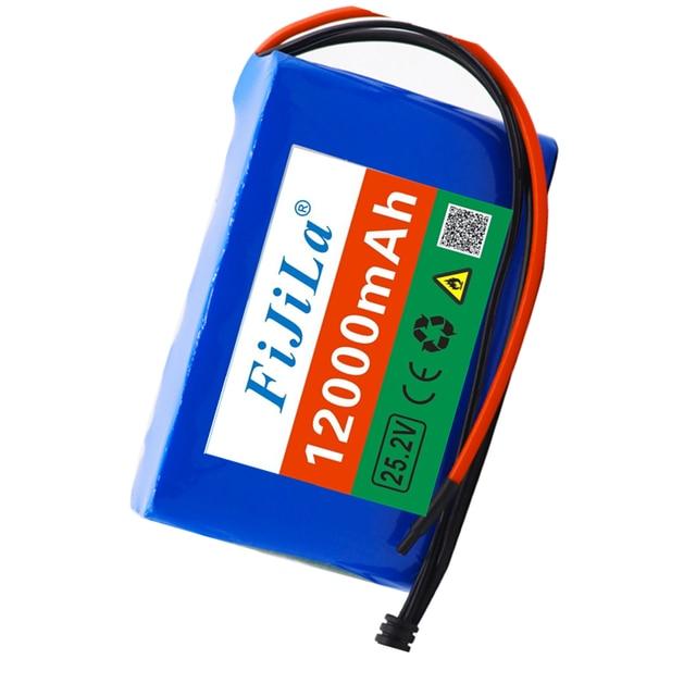 24V 12Ah batterie au Lithium batterie 25.2v 12000mAh vélo électrique cyclomoteur/électrique/Li ion batterie avec
