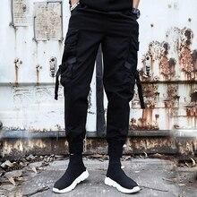 2019 כיסי מכנסיים מטען גברים אופנה קיץ חדש עיצוב מכנסי קזואל טקטי מכנסיים גאות Harajuku Streetwear סיטונאי