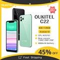 OUKITEL C22 глобальная версия смартфона 4 Гб ОЗУ 128 Гб ПЗУ тройной светильник камеры вес 2.5D стекло Назад 2,0 ГГц 000 мАч мобильный телефон
