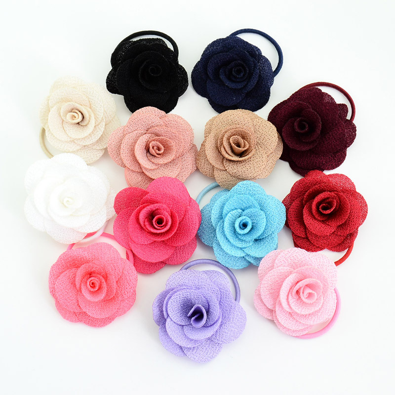 2Pcs/Lot Baby Girl Hair Rope Multilayer Flower Elastic Rubber Bands Ties Hairpins For Kids Baby Girls Hair Clips Accessories New