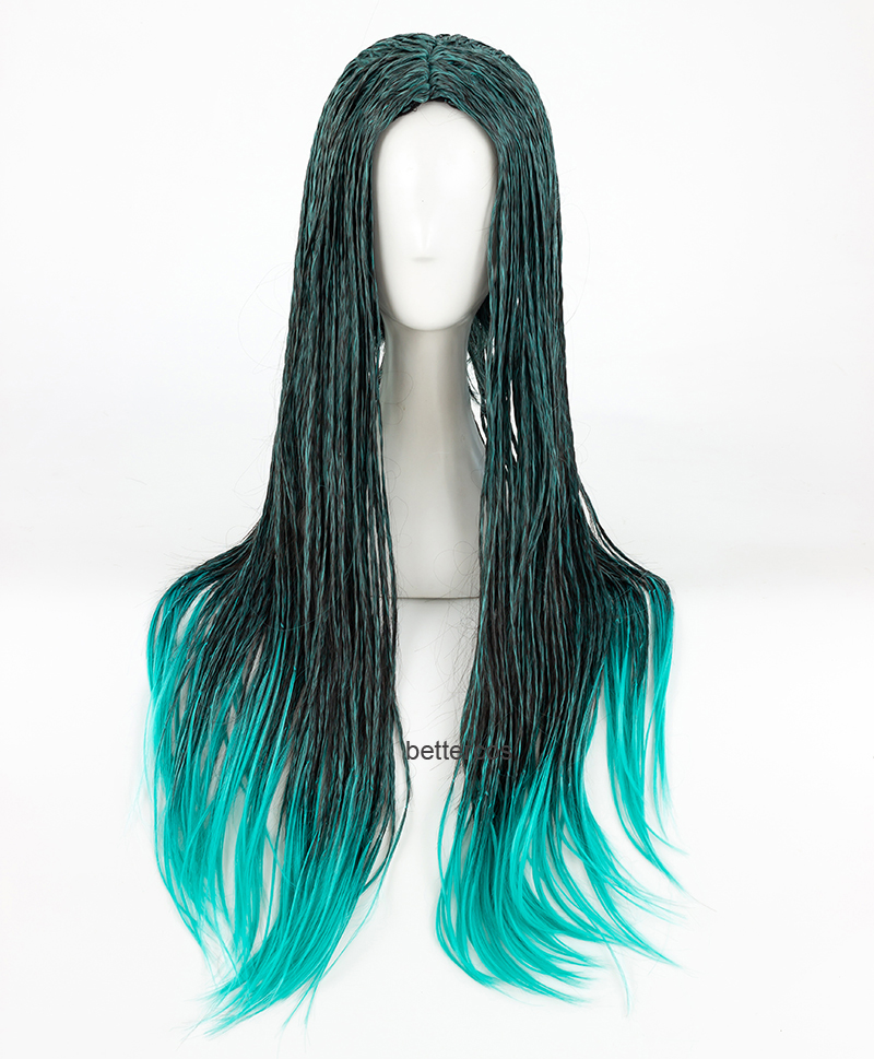 Descendants 2 Uma Cosplay Wig Braided Synthetic Fashion Costume Wigs Wig Cap
