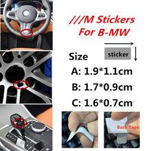 5PCS M Desempenho Do Poder Do Carro Adesivos para BMW M3 M4 M5 E46 E39 E90 E34 E36 E53 E60 x5 e70 F10 decoração Decalques Emblema do cubo de Roda
