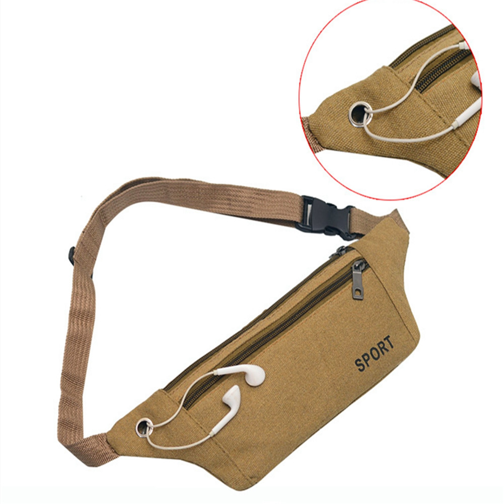 Unisex Outdoor Waist Bag Traveling Fanny-Pack Kidney Belt Running Phone Holder Sport Bum Bags Pouch With Headphone Hole