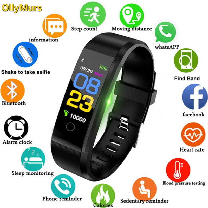 2019 New Smart Bracelet Men Women Heart Rate Monitor Blood Pressure Fitness Tracker Smartband Sport for ios android+BOX pk M3 M2 image