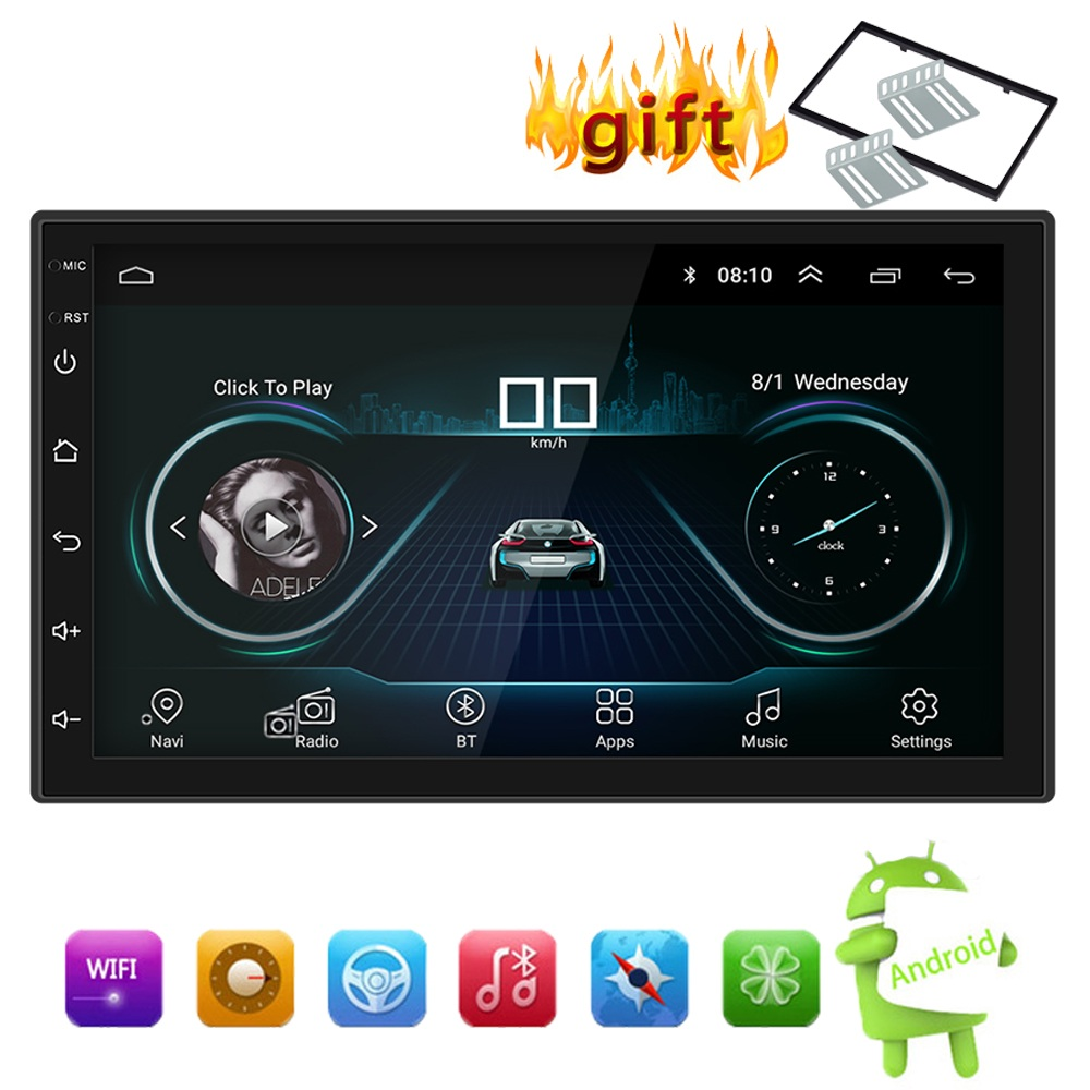 7 quot Android 8 1 Car Bluetooth MP5 Player Stereo Radio GPS Navigation Player AUX Audio Input FM Modulator Bluetooth USB Player in Car MP3 Players from Automobiles amp Motorcycles