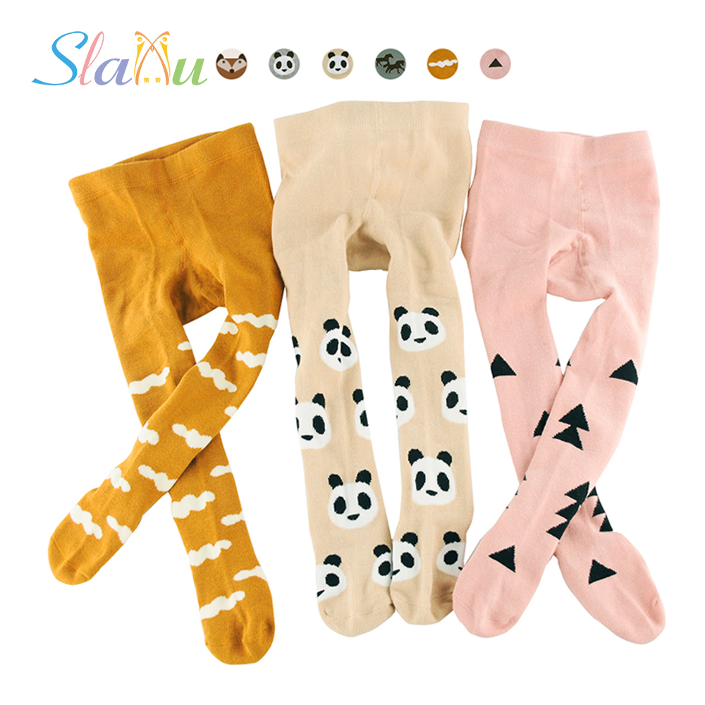 Cute Animal&Geometric Kids Girls Tights Pantyhose Stocking Cotton Children Baby Boy Tights Stockings Toddler Pantyhose For 0-3 Y