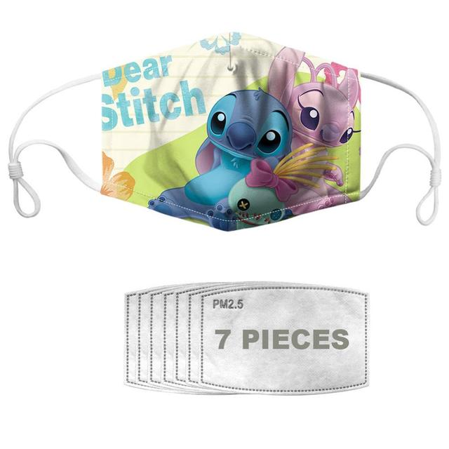 NOISYDESIGNS Kids Mouth Masks Stitch Printed Cartoon Reusable Boys Girls Children's Face Cover Mascaras Enfant Mascarillas 1