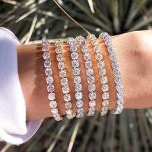 New Cubic Zirconia Tennis Bracelet & Bangles For Women Fashion Lady Jewelry Pulseras Mujer CBP50K