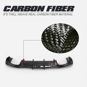 Car-styling For Audi S3 Sedan Only 18-19 KB Style Carbon Fiber Rear Diffuser Glossy Finish Bumper Splitter Kit Fibre Drift Trim