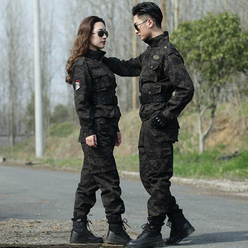 Winter Militaire Camouflage Uniform Mannen Tactical Combat Shirt Jacht Kleding Vrouwelijke Army Airsoft Katoenen Pak Vissen Cargo Broek