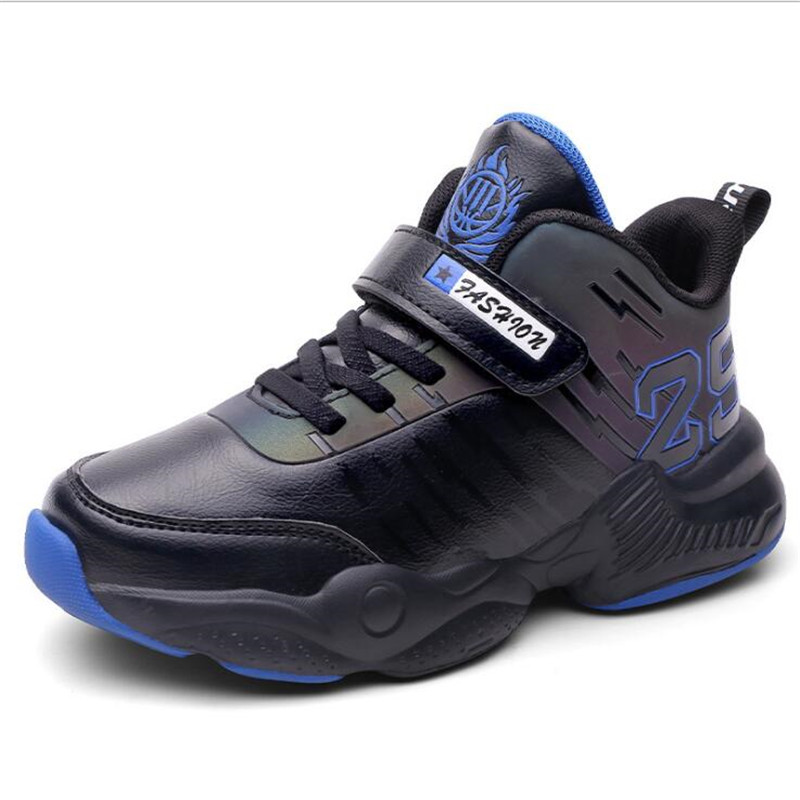 Boys Girls Kids Basketball Shoes High Top Basketball Training Boots Anti Slip Sport Shoes Children Trainers Kids Basket Sport|Basketball Shoes| |  - title=